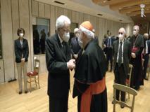 Mattarella assiste alla proiezione di un filmato per la beatificazione del giudice Livatino