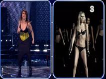 Cristina D'Avena si esibisce imitando Lady Gaga