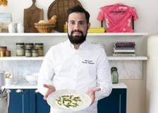 Il risotto con stafforella, asparagi e nocciole di Alessandro Proietti Refrigeri