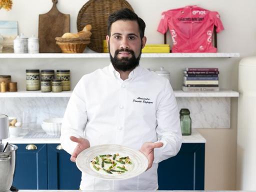 La ricetta del risotto con formaggio stafforella, asparagi e nocciole dello chef Alessandro Proietti Refrigeri