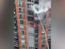 Incendio a Londra in un palazzo di 19 piani, più di 100 pompieri impegnati