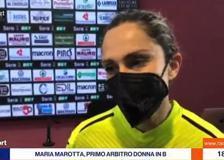Calcio, Maria Marotta nella storia: primo arbitro donna in Serie B