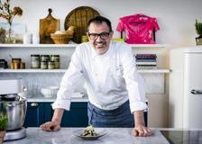 Il polpo arrosto con insalata di patate e gazpacho dello chef Antonio Guida