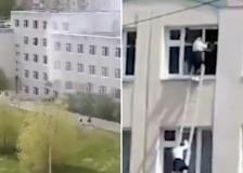 Russia, sparatoria in una scuola a Kazan: gli spari e gli studenti in fuga dalle finestre