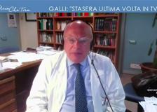 Il prof Galli: «Questa sera sarà la mia ultima volta in tv, per almeno 15 giorni faccio altro»