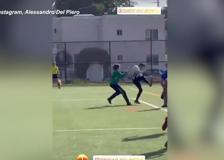 Gol alla Del Piero: la prodezza di Tobias, figlio dell'ex attaccante della Juventus
