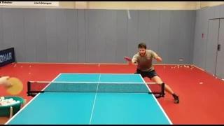 Ping pong, l'allenamento ipnotico di Ovtcharov