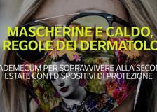 Mascherine e caldo, le regole dei dermatologi