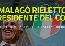 Malagò rieletto per la terza volta presidente del Coni