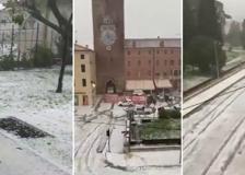 Maltempo, violenta grandinata in Veneto: danni a colture e auto