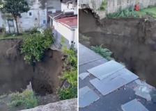 Napoli, profonda voragine nel Rione Sanità: nessun ferito