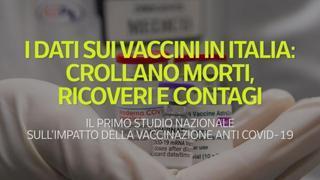 I dati sui vaccini in Italia: crollano morti, ricoveri e contagi