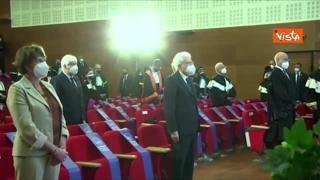 Mattarella all'Università di Brescia, minuto silenzio in ricordo delle vittime Covid