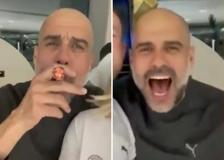 Festa Manchester, Guardiola scatenato canta a squarciagola gli Oasis