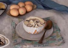 «Il Sogno e l'Emozione», l'uovo con patate, fonduta di bitto e tartufo dello chef Gianni Tarabini