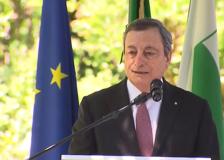 Draghi in visita agli impianti industriali a Spezzano di Fiorano (Mo)