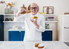 La torta alla nocciola con gelato e zabaione di Paolo Brunelli