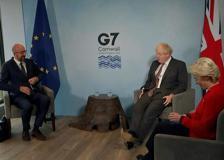 G7, Johnson con Michel e von der Leyen: «Protocolli ok e abbiamo le sedie per tutti»
