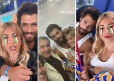 Turchia-Italia, tra il pubblico anche Diletta Leotta e Can Yaman: la coppia divisa dal tifo