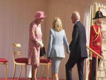 Joe e Jill Biden ricevuti dalla regina Elisabetta II al Castello di Windsor