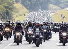 Corteo di motociclisti per Bolsonaro a San Paolo