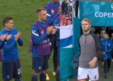 Malore Eriksen, i giocatori danesi tornato in campo: l'applauso degli avversari