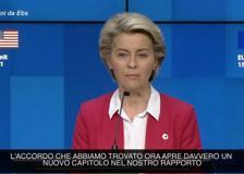 Patto Usa-Ue, von der Leyen: «Abbiamo raggiunto l'accordo sugli aerei dopo quasi 20 anni di controversie»