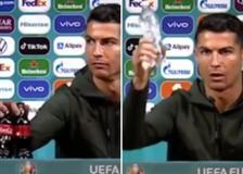 A Cristiano Ronaldo non piace la Coca-Cola e la toglie dall'inquadratura