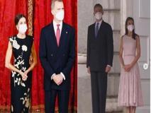 Letizia Ortiz, i suoi look durante la visita del presidente coreano e della moglie