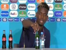 Europei, Pogba come Ronaldo: toglie la bevanda in conferenza stampa, ma questa volta è una birra