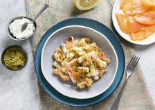 I tortiglioni con salmone e pistacchi (pronti in 15 minuti)