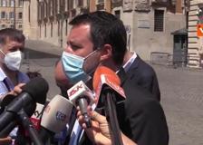 Mascherine, Salvini: «Ho chiesto a Draghi di eliminare l'obbligo del bavaglio all'aperto»
