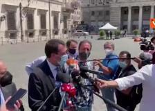 Salvini dopo l'incontro con Draghi: «Stato di emergenza? Ne riparleremo quando scadrà a fine luglio»