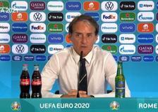 Europei, Mancini: «Ho la fortuna di avere giocatori bravi che si prendono dei rischi»