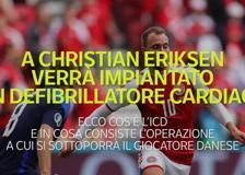 A Christian Eriksen verrà impiantato un defibrillatore cardiaco: che cose è