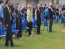 Michele Merlo, i funerali allo stadio di Rosà nel vicentino: presenti Salvini e Meloni
