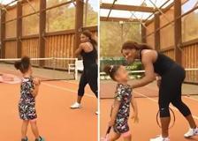 Piccole tenniste crescono, Serena Williams allena la figlia Olympia