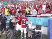 Fiola, l'assurda esultanza al gol contro la Francia: spacca un computer davanti a una giornalista spaventata