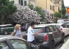 Imma Battaglia vota alle primarie del Pd a Roma