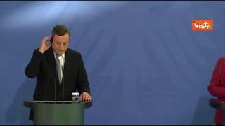 Merkel: «Con Draghi sintonia anche sul calcio, pensiamo che Gosens del Bergamo sia un ottimo giocatore»