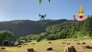 Bambino scomparso, ricerche con il drone nei boschi del Mugello