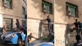 Roma, bimba di due anni rischia di cadere dalla finestra: salvata dai poliziotti