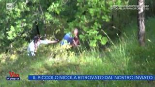 Nicola Tanturli, il momento in cui viene trovato dal giornalista de «La Vita in diretta»