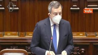 Draghi sbaglia per due volte il nome della deputata: «L'onorevole Panaro, Tanaro, ah Ianaro, scusate»
