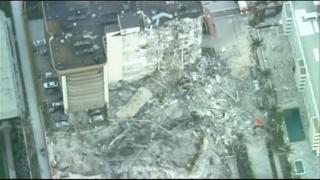 Palazzo crollato a Miami, la visuale dall'alto delle macerie