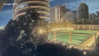 Miami, il video del crollo del palazzo di dodici piani