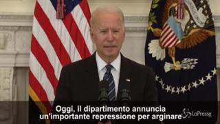 Usa, Biden: «Tolleranza zero per venditori armi che violano regole»