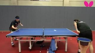 Ping pong, il colpo dall'effetto «gambero»