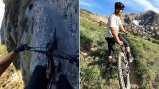 Avreste il coraggio? Con la mountain bike sul tracciato estremo delle montagne nello Utah