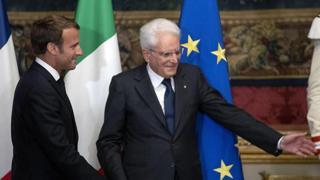 Visita di Stato in Francia, l'incontro tra il Presidente Sergio Mattarella e il Capo di Stato francese Emmanuel Macron La diretta